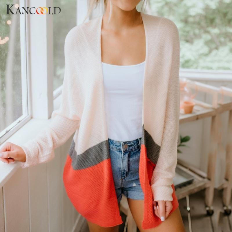 KANCOOLD casacos Mulheres Manga comprida Luz peso Casual Knit Sweaters Cardigan coat moda novos casacos e jaquetas mulher 2019JUL22