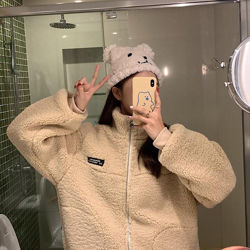 High quality 2020 Artificial wool Fur Coat Women Autumn Winter Warm Soft Zipper Fur Jacket Female Plush Overcoat Pocket Casual