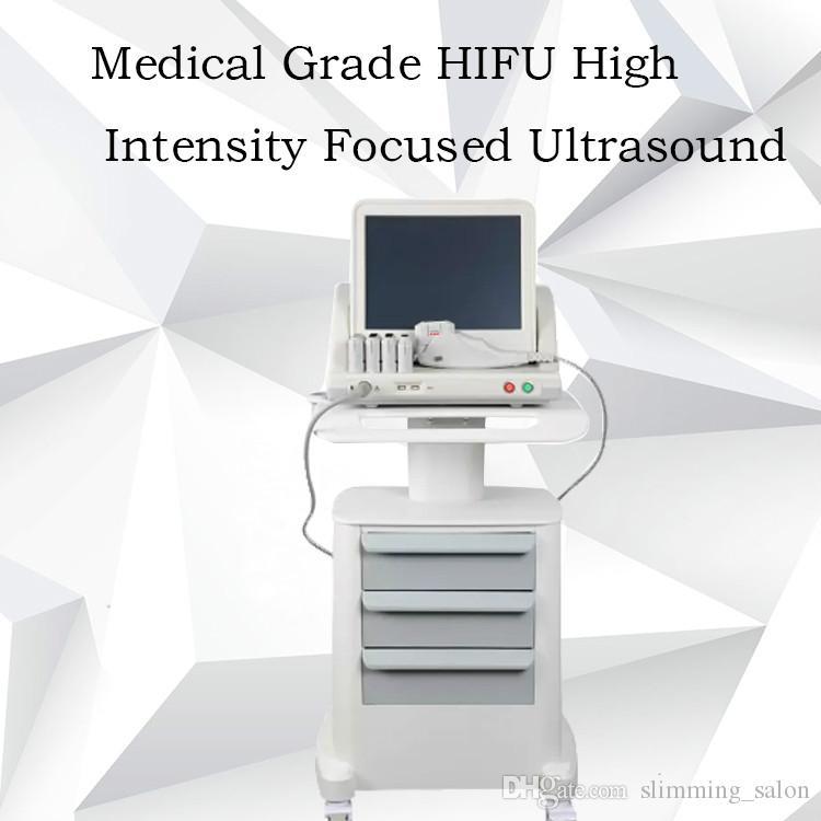 2019 peau serrant hifu machine haute intensité focalisée ultrasons retrait des rides hifu machines pour utilisation salon du visage
