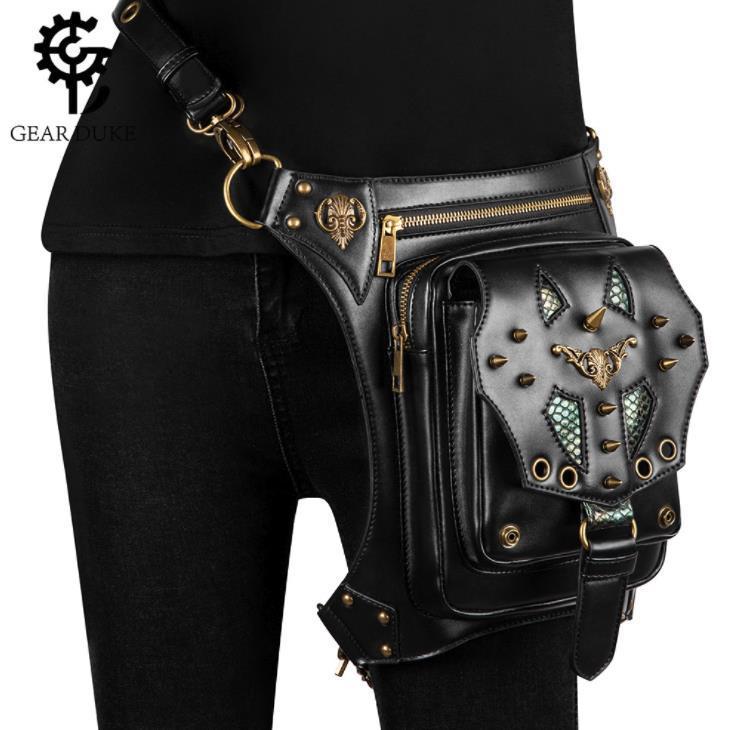Europe et les modèles d'explosion États-Unis sacs de femmes punk de vapeur rétro sac épaule sac bandoulière femme extérieur taille multifonctionnel