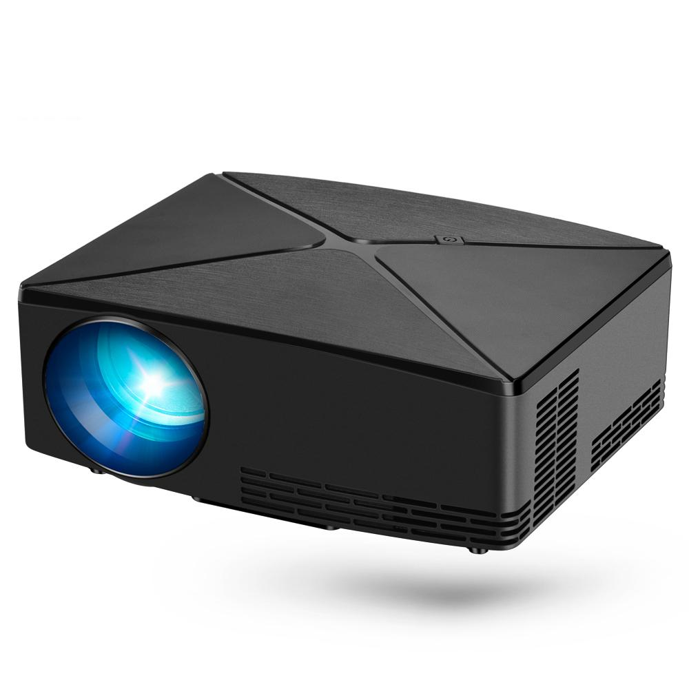 4K Ev Sineması, İsteğe Bağlı C80 için Taşınabilir 3D Beamer LED MİNİ Projektör C80UP, 1280x720p Çözünürlük, Android WIFI Proyector,