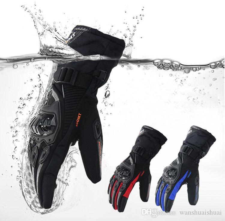 мотоцикл перчатки 100% водонепроницаемый ветрозащитный зима теплая Guantes Moto Luvas сенсорный экран Motosiklet Eldiveni защитные