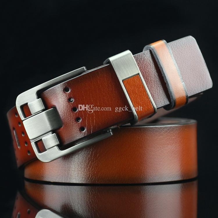Cintura uomo cinturino in pelle uomo cinturino in vera pelle di lusso fibbia fibbia cinture per uomo cintura commerbunds Ceinture Homme