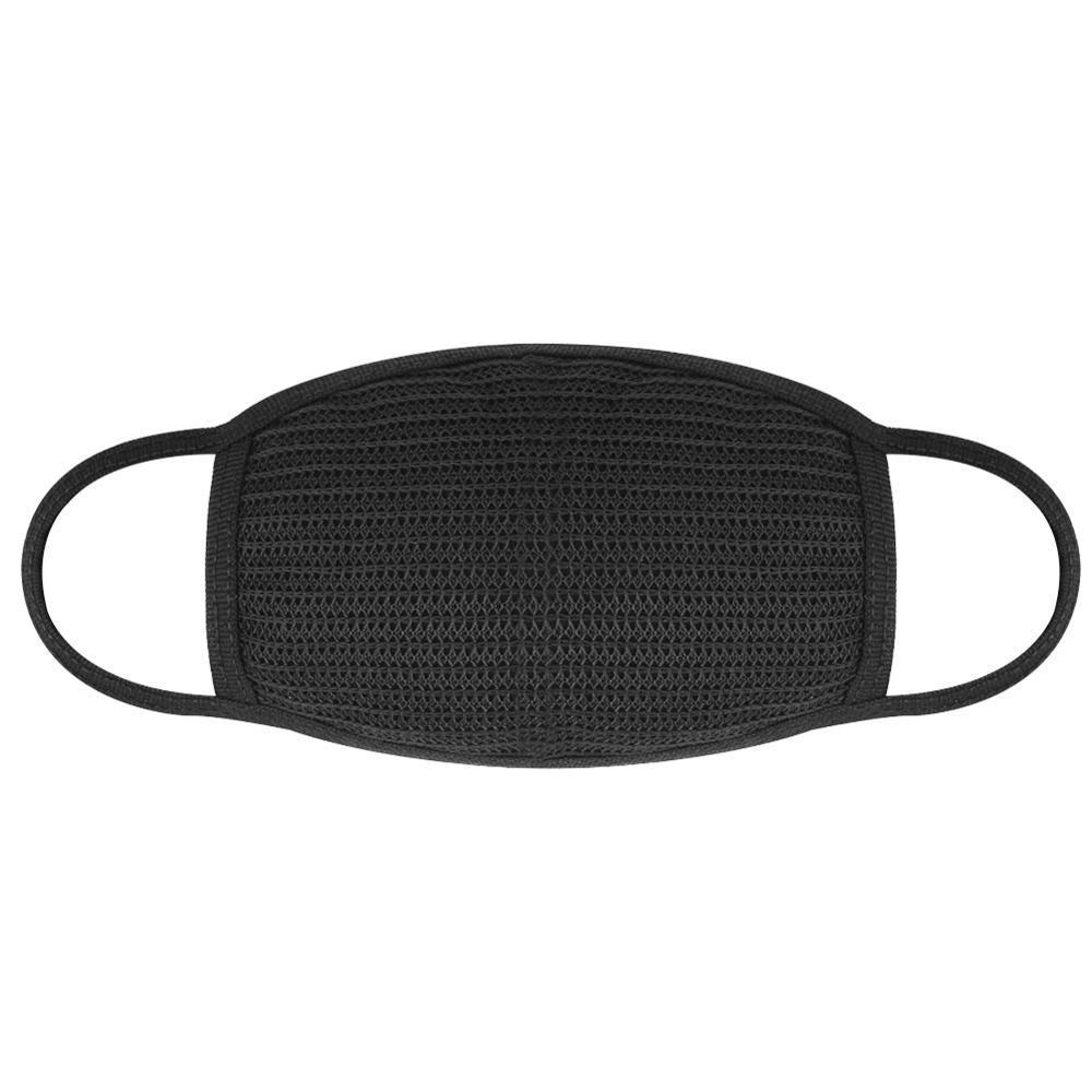 Máscara de algodón simple Mascarilla Unisex Negro Ciclismo Anti-polvo máscara transpirable Earloop Boca Cara