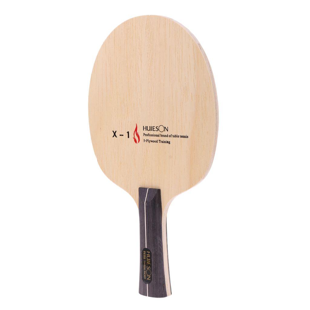 Perfeclan Premium-Reines Holz Tischtennisschläger Tischtennis Shakehand / Stiel Paddel für Anfänger Praxis T200410