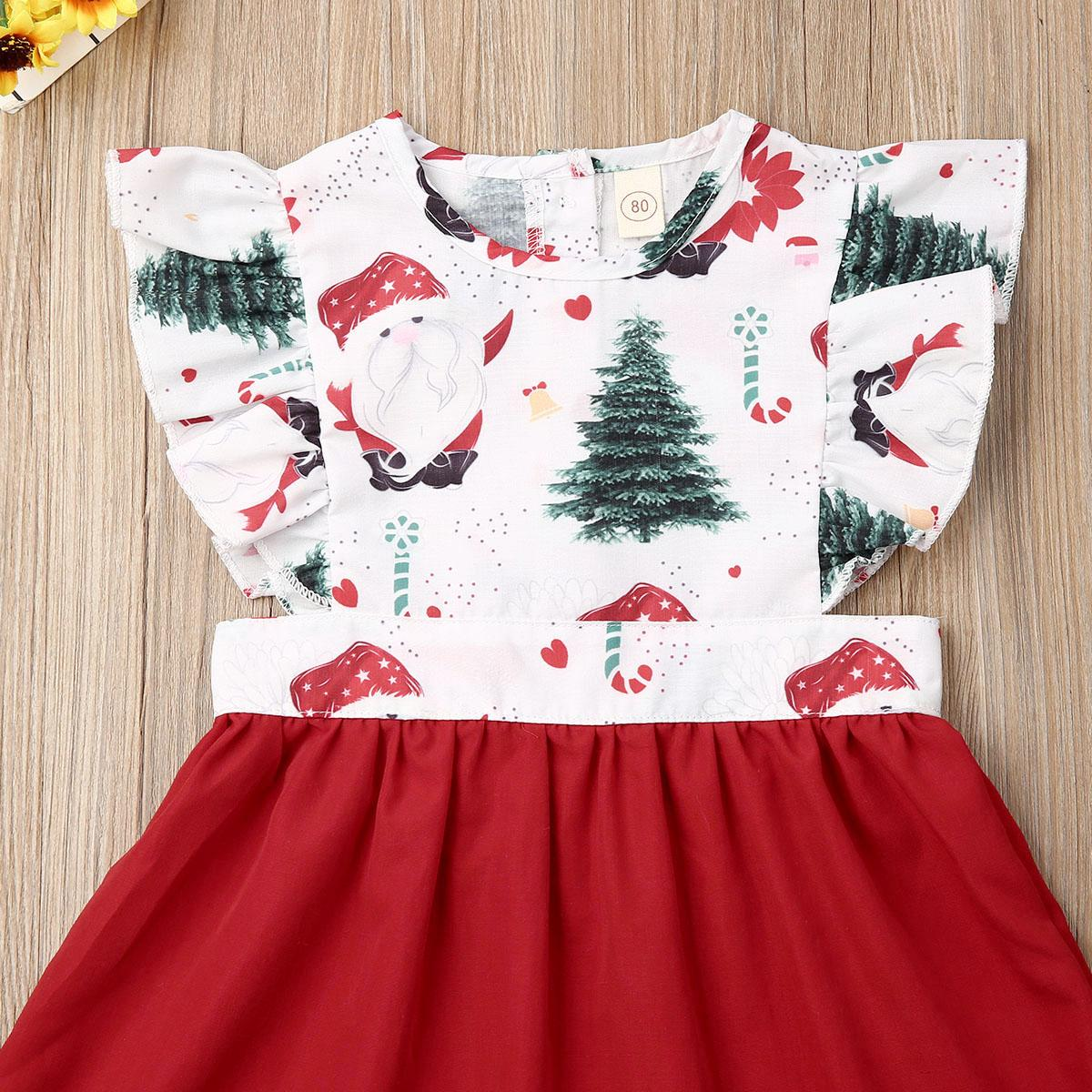 Toddler Baby Girl Christmas Clothes Sister Matching Xmas Set Romper Dress Outfit