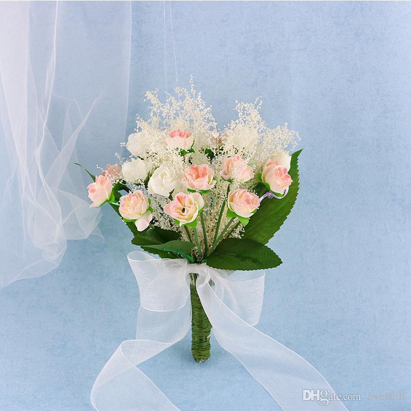 Bouquet Sposa Economici.Acquista Janevini Fleurs Artificielles Exterieur Bouquet Da Sposa