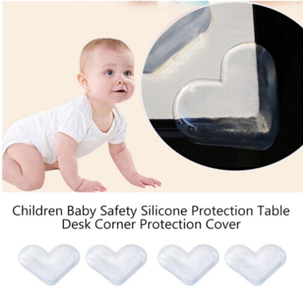 4PCS الطفل سلامة الطفل سيليكون حامي الجدول ركن حافة غطاء حماية الأطفال المضادة للاصطدام الحرس الحافة