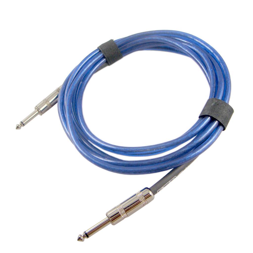 الأزرق غيتار 6.35mm جاك كابل الصوت اتصال كابل للغيتار كهربائي باس أجزاء 300CM