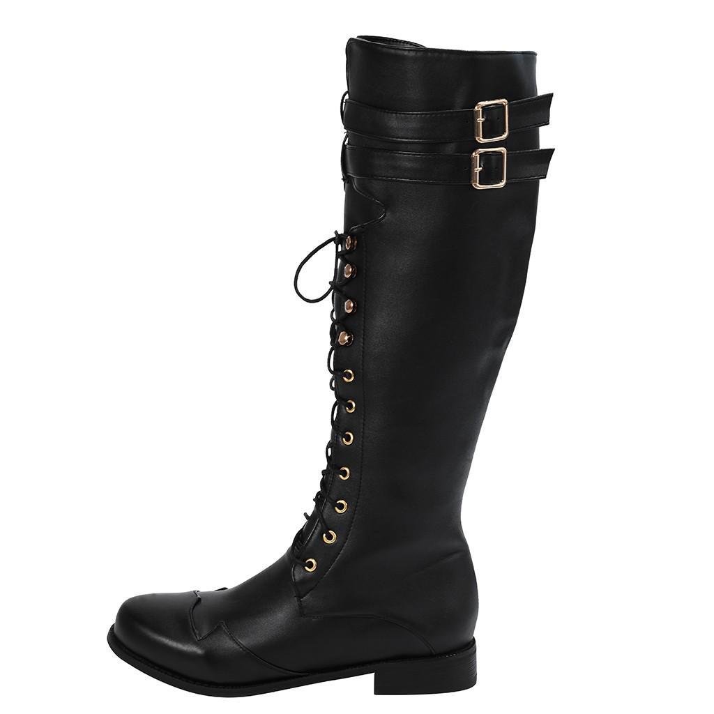 SAGACE bottes d'hiver des hommes de haute qualité rétro cool bottes d'hiver dentelle hommes non imperméable slip long Western Style Classique Boot ci-dessous