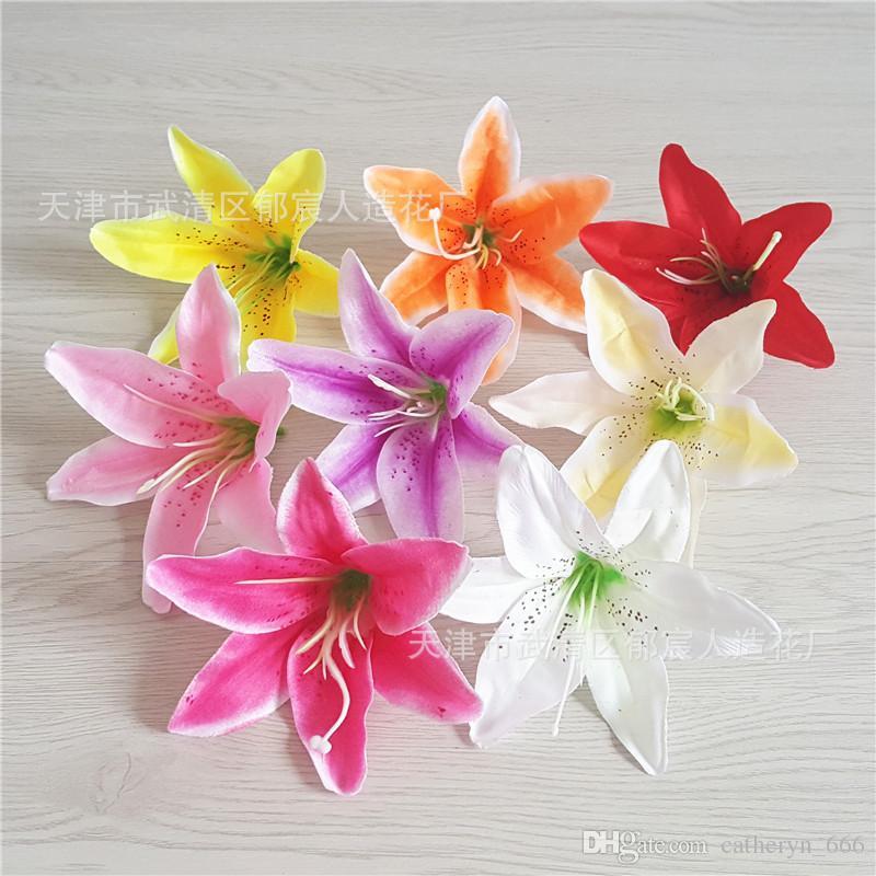 Tiger Lily Artificial Flower Heads DIY Craft Petal Decor Natural-looking flowers Wedding decoration table arrangement elegant home Deco