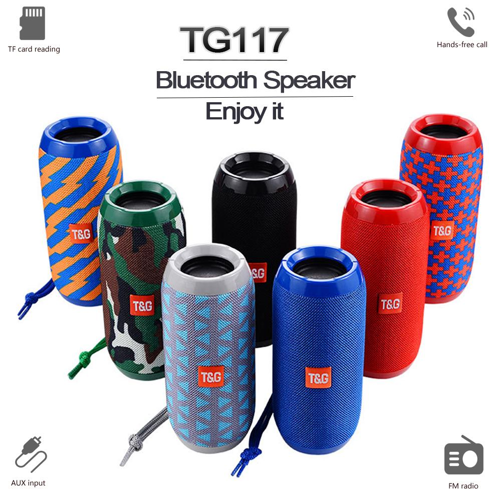 TG117 Outdoor Column Waterproof Portable Wireless Bluetooth Loundspeaker Soundbar Support TF FM Radio Altavoce Bluetooth Speaker