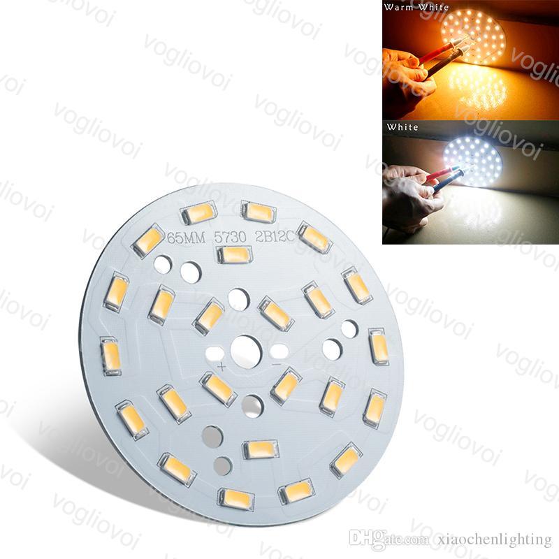 Placa de lâmpada PWB com smd5730 LED Painel 12W 65mm Acessórios de iluminação 3000K 6500K para Teto Blub Inundação Downlight EUB