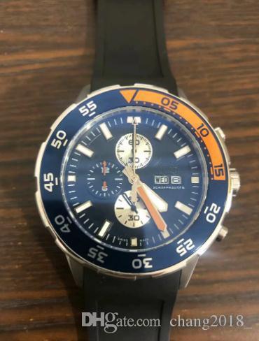 12 estilos para hombre caliente de la venta de relojes de lujo relojes de cuarzo cronógrafo de acero inoxidable de cuero de goma correas de relojes de los hombres para el hombre 09 ww1201