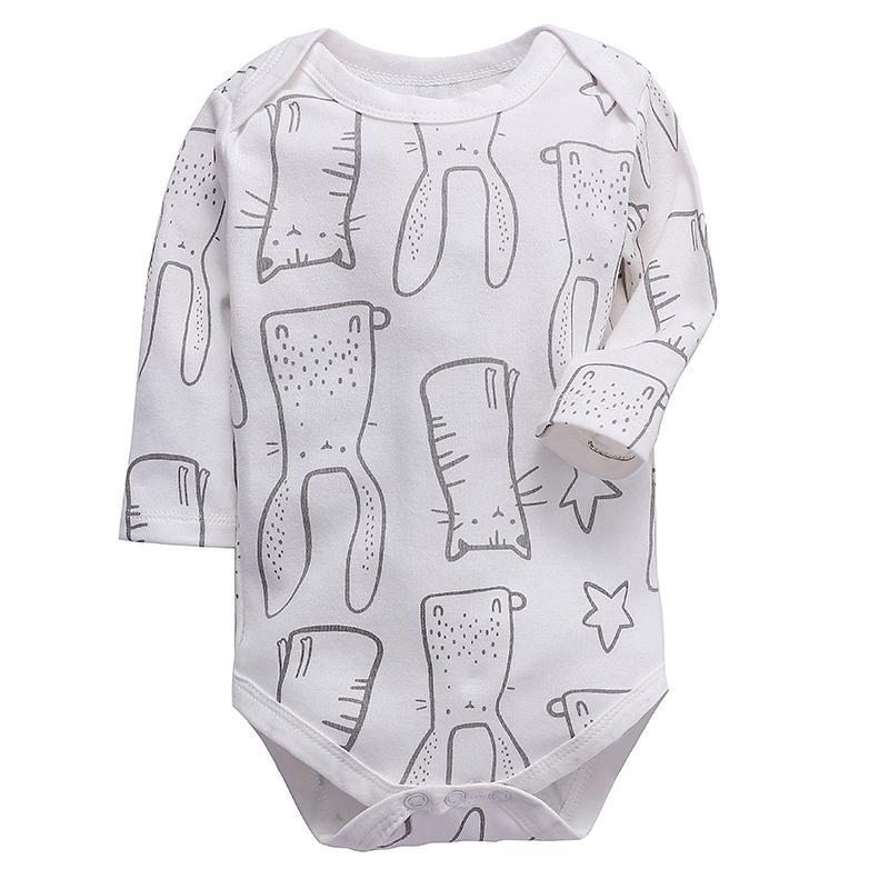 المولود الجديد ملابس للبنات الرضع BODYSUIT كم طويل قطن 100٪ 3 6 9 12 18 24 شهور الأطفال بنين