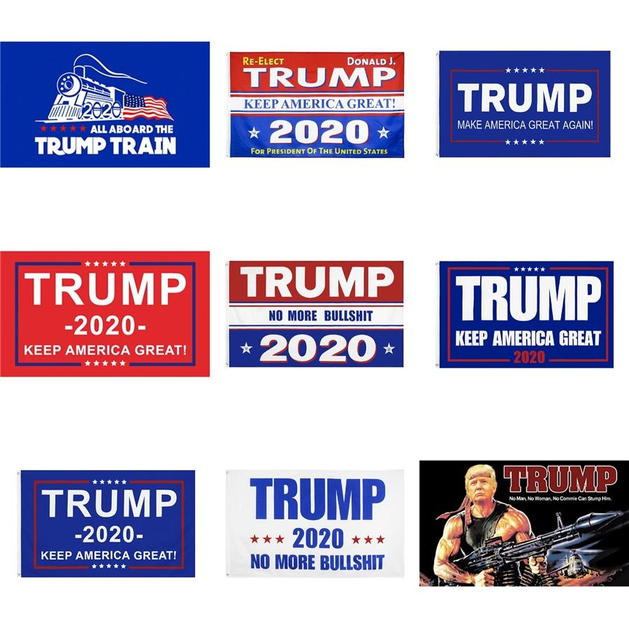 2020 Usa Präsident Wahl Ww3 Donald Trump Tank-Flagge 3 * 5Ft Halten Sie Amerika Große Banner Supplies 90 * 150cm # 727