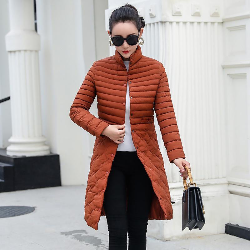 Işık ve aşağı ince ceket kadın orta uzunlukta yeni ince boyutlu hafif ceket