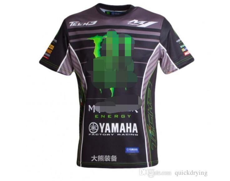 Yamaha moto in sella a maniche corte cultura maglietta della squadra macchina asciugatura rapida maniche corte da corsa T-shirt uomo