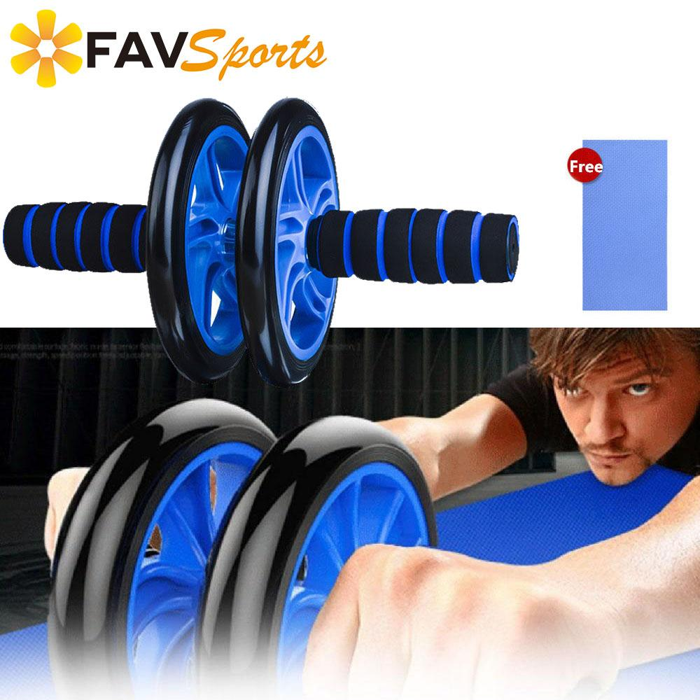 2019 New Fitabs Fitness AB Rollers Exercises Gym Arm Machine Abdominaux Training Workout Waist Wheel Roller with Free Mat