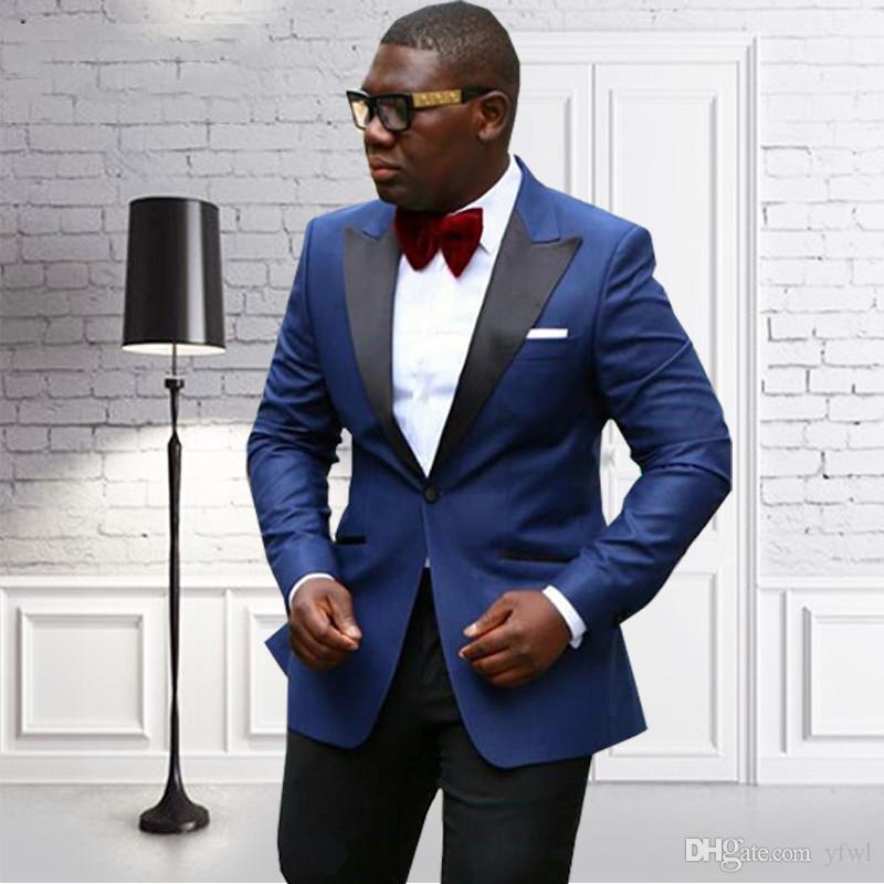 Clásico pico solapa esmoquin juegos de la boda el novio trajes de hombre para hombre smoking de la boda trajes de fumar vierte hommes hombres (Jacket + Pants + Tie) 368