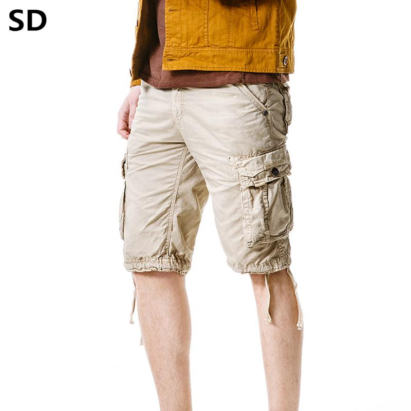 FLAMINGO/_STORE Cargo Shorts Mens Casual Shorts Male Loose Work Shorts Man Military Short Pants