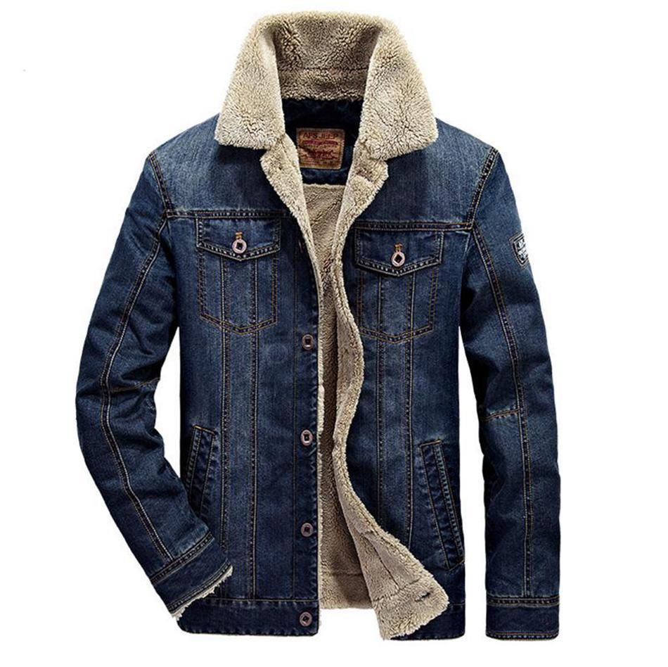 Moda-homens jaqueta jeans plus size casaco M-6XL jaqueta de roupas de marca Moda mens jeans jacket grossa inverno quente outwear cowboy masculino LJJA2855