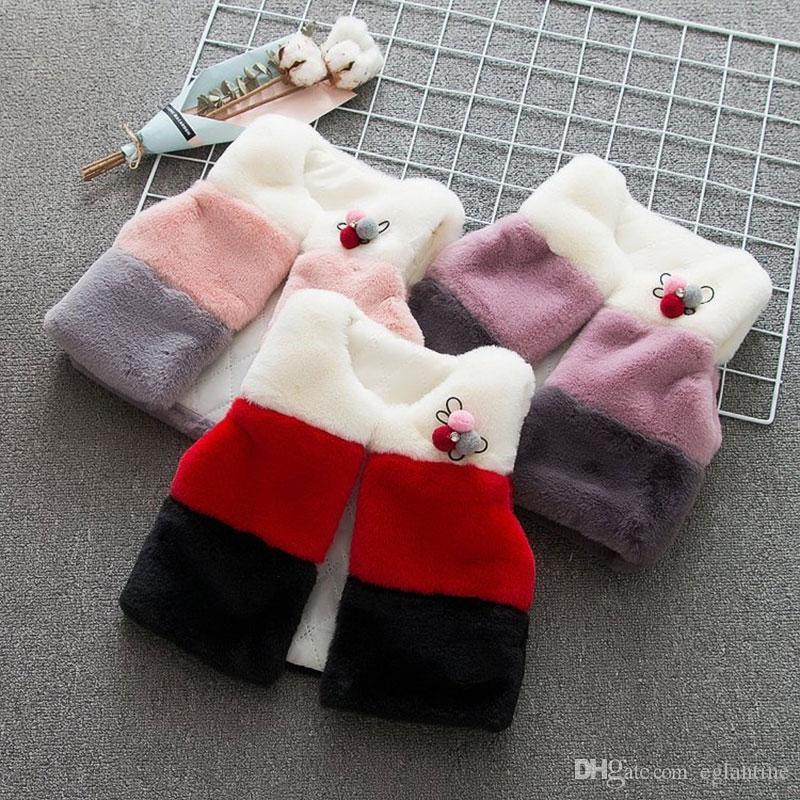 Babykleidung für Kleidung Weste Taufe Babys Neugeborene Westeoberbekleidung Herbst Winter Geburtstag Weihnachten Webpelz Jacke