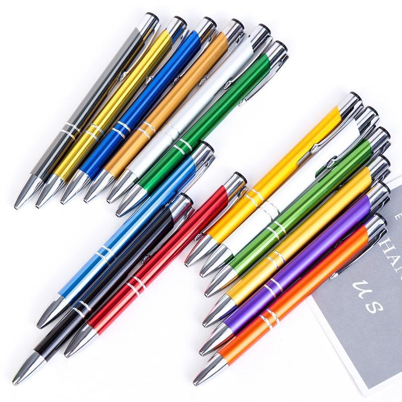 Prensa de metal Bolígrafo Bolígrafo Moda 1,0 mm duradero Escuela de Escritura Pluma de la oficina Suministros de Publicidad Personalizar del regalo de DBC
