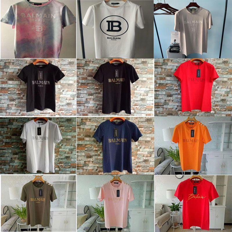 2020 Balmain T-shirts Vêtements pour hommes T-shirts Hommes Bleu Noir Blanc Femmes Slim Balmain France Paris