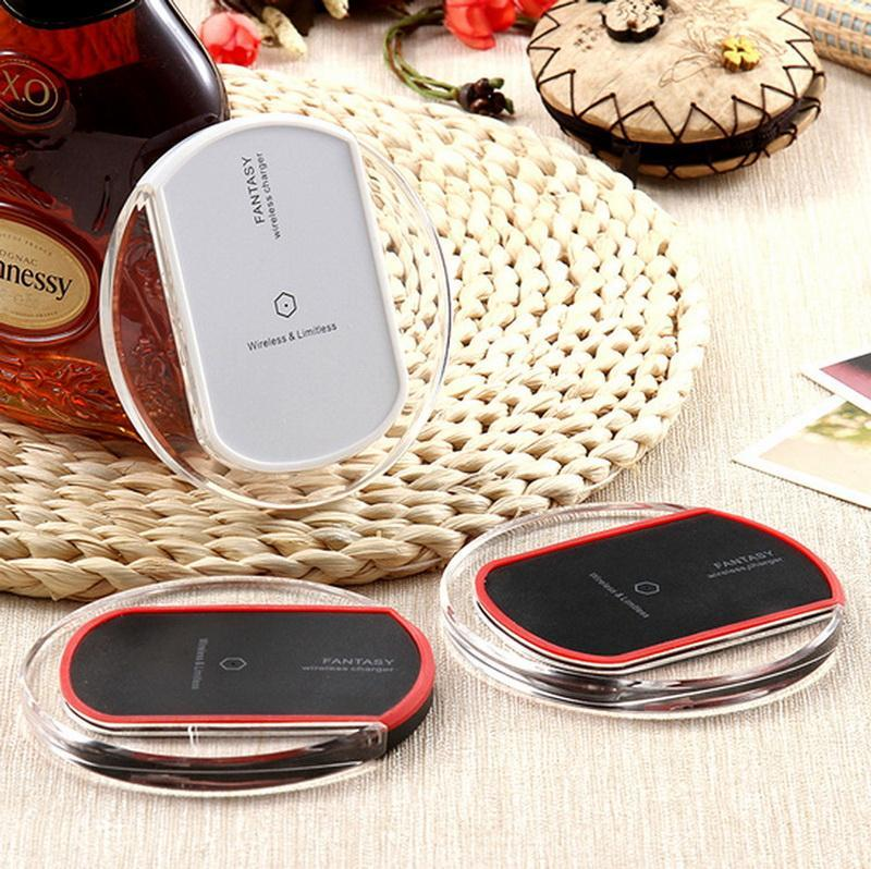 50pcs Universal Qi Wireless Charger Charging Pad Thin Power Bank Transmitter for Samsung Galaxy S6 S7 Edge Plus Note 5 7