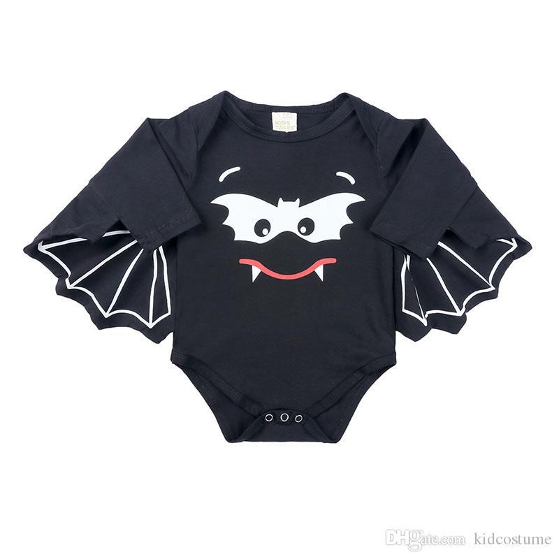 Halloween parrucca Bat pagliaccetto per il neonato vestiti della ragazza Vampirina Newborn Stampare Il mio primo compleanno Body Piccolo Bambino divertente della tuta della tuta
