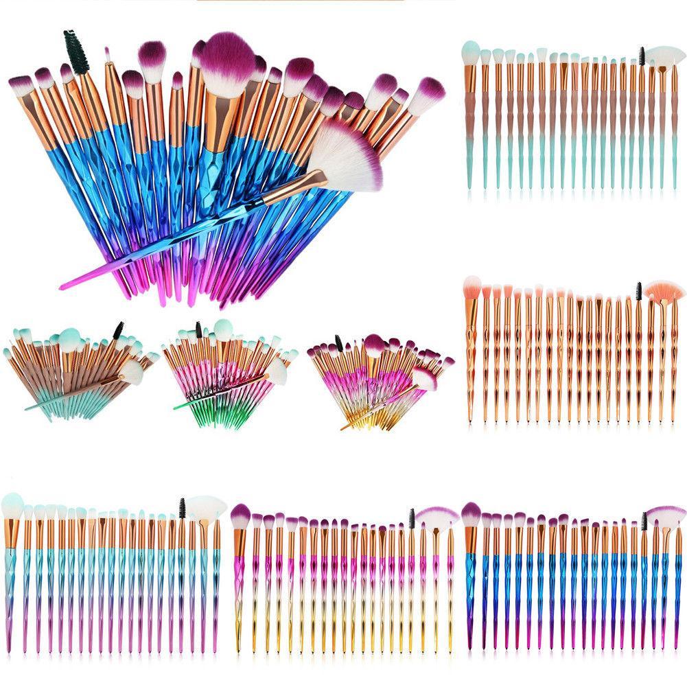 Fashion Women 20 PCS Make Up Brush Set Kit Foundation Powder Eyeshadow Eyebrow Eye Lip Eyelash