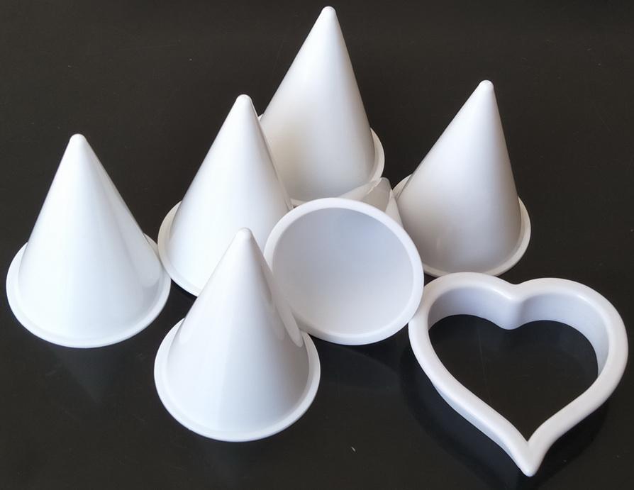 5Sets Calla Lily Cake Fondant Cutter Decoración de la herramienta de artesanía de Molde de Sugarcraft