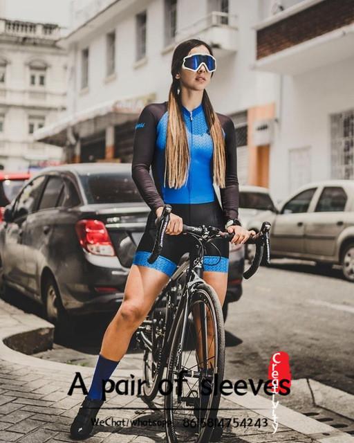 وضع FRENESI برو فريق الترياتلون البدلة المرأة إيكيب cyclisme الدراجات Skinsuit أنثى بذلة ملابس Ciclismo ciclismo موهير مايوه