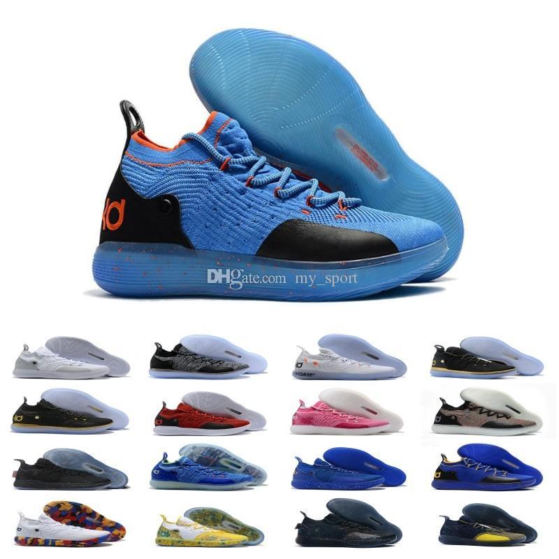 # 35 Kevin Durant XI Teyzem / BHM / Kurt Gri / Michigan NCAA / Köpük / Çok renkli / Filipinler KD 11 Basketbol ayakkabı erkekler 11'ler KD11 Sneakers Size7-12