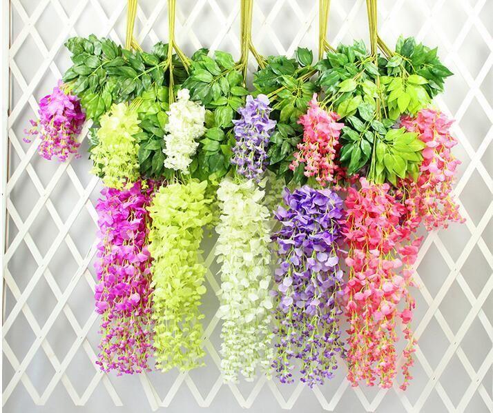 Fiore artificiale all'ingrosso del partito di Wisteria fiore artificiale Wedding Banquet Fiore decorativo Wisteria decorativo alta qualità da vendere Fre