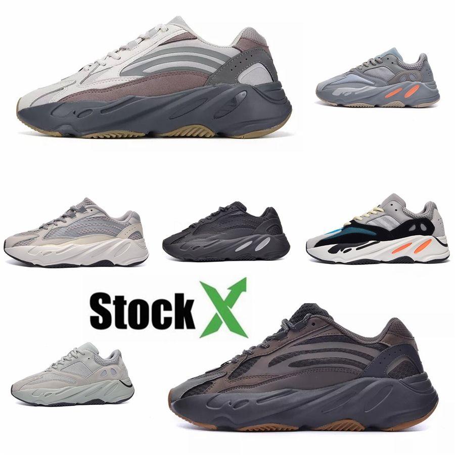 2020 zapatos corrientes de los Top 700 Mnvn Naranja Alvah V1 V2 V3 Bone inercia Tefra estático sólido Kanye West para hombre de las zapatillas de deporte de las mujeres de carbono azul Hosp # DSK255