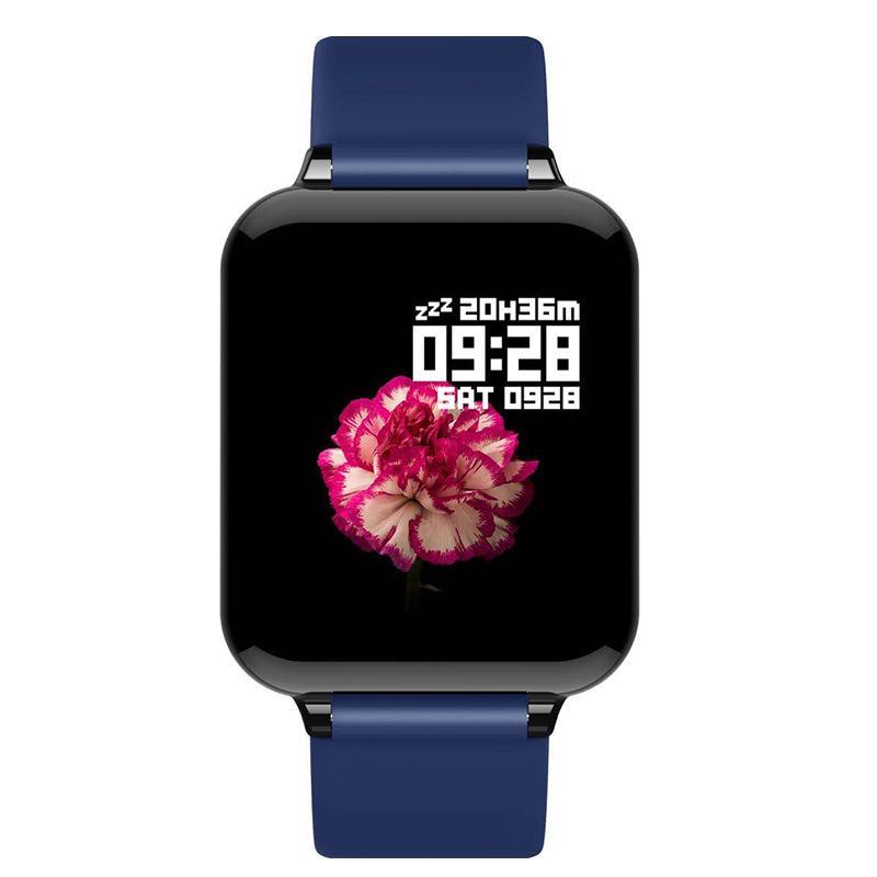 B57 الذكية ووتش ماء القلب رصد معدل ضغط الدم متعددة الرياضة وضع smartwatch المرأة يمكن ارتداؤها ووتش الرجال الذكية ساعة
