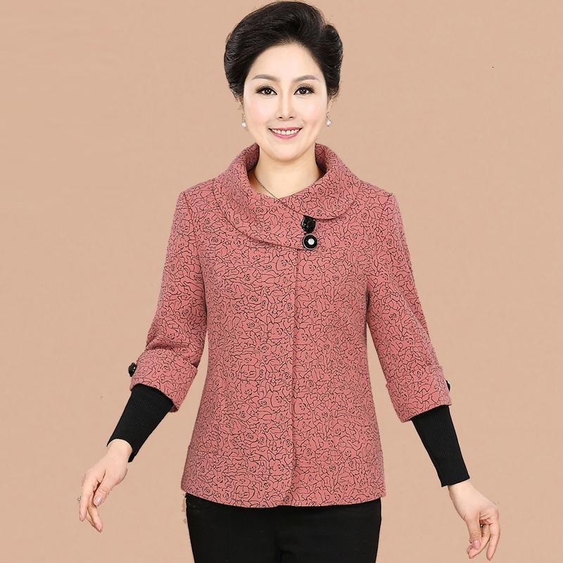 NIFULLAN İlkbahar Sonbahar Yeni Moda Artı boyutu Kadınlar Ceket Coat İnce Uzun kollu eskitmek Midtown Anne Palto MX191031 Tops
