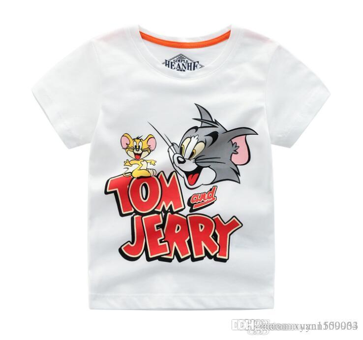 Foreign trade children's wear boys short-sleeved T-shirt summer cotton children half sleeve summer cartoon