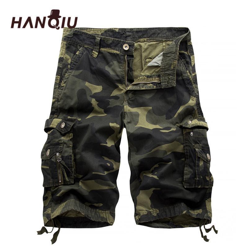 2020 Fashion Shorts Camo militaire Été camouflage multi-poches Homme Armée Casual Shorts Bermudas Masculina Y200519