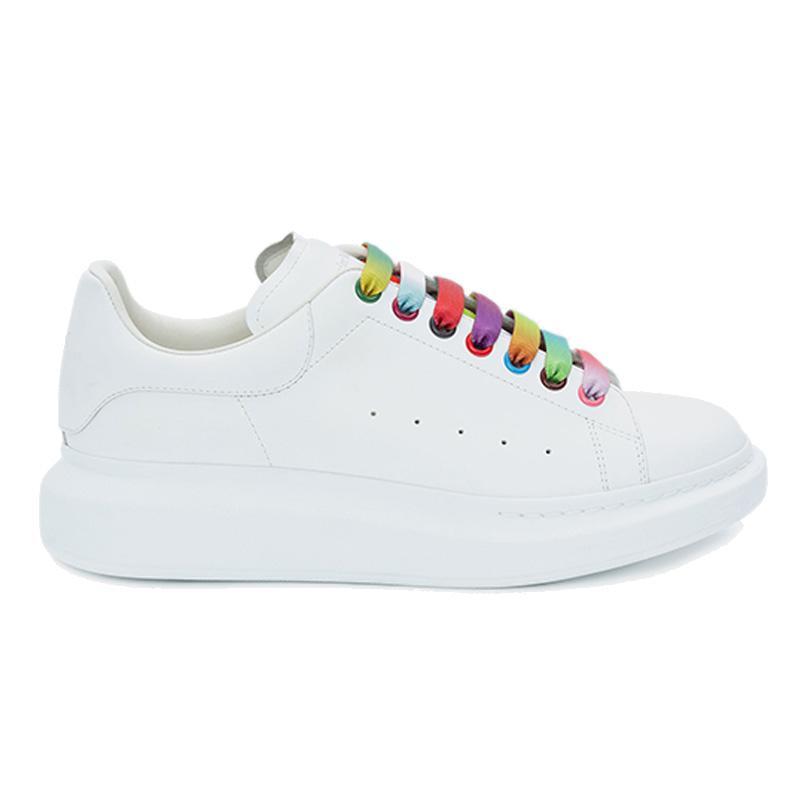 Vari stili Casual Shoes Mens delle donne degli addestratori della piattaforma del cuoio scarpe piane Chaussures eccellenti scarpe da ginnastica bianche in pelle di qualità in pelle scamosciata
