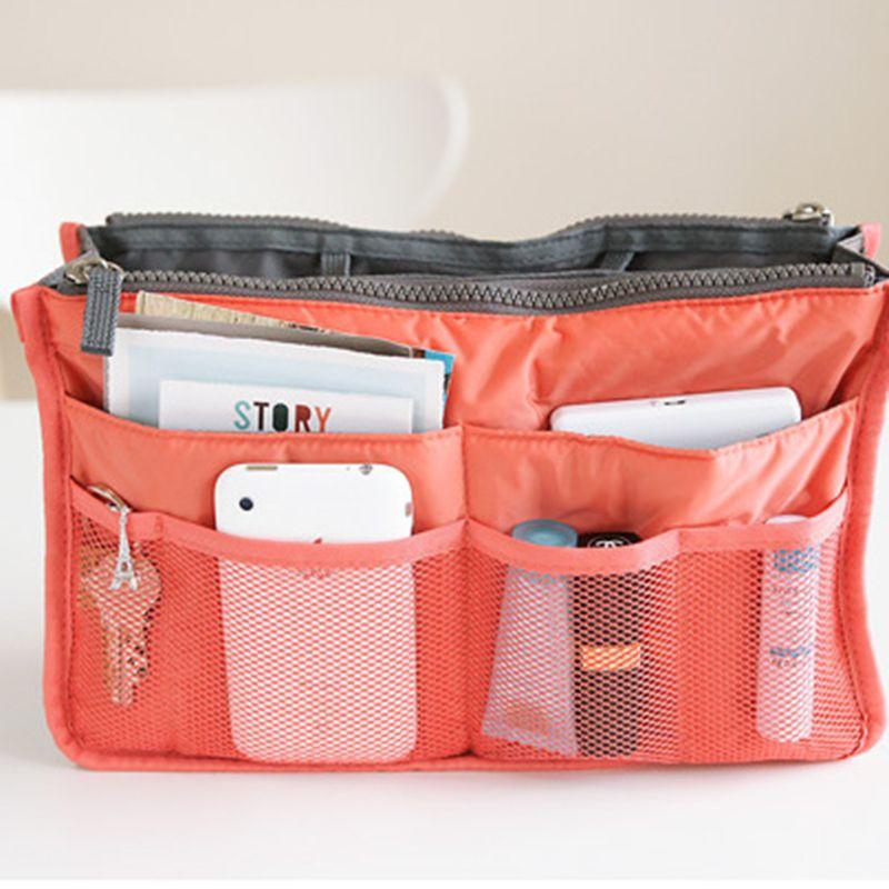 Multi funzione di stoccaggio sacchetto solido con cerniera con cerniera buggy borsa borsa moda donna viaggio sacchetto di trucco cosmetico borsa a mano borse a mano