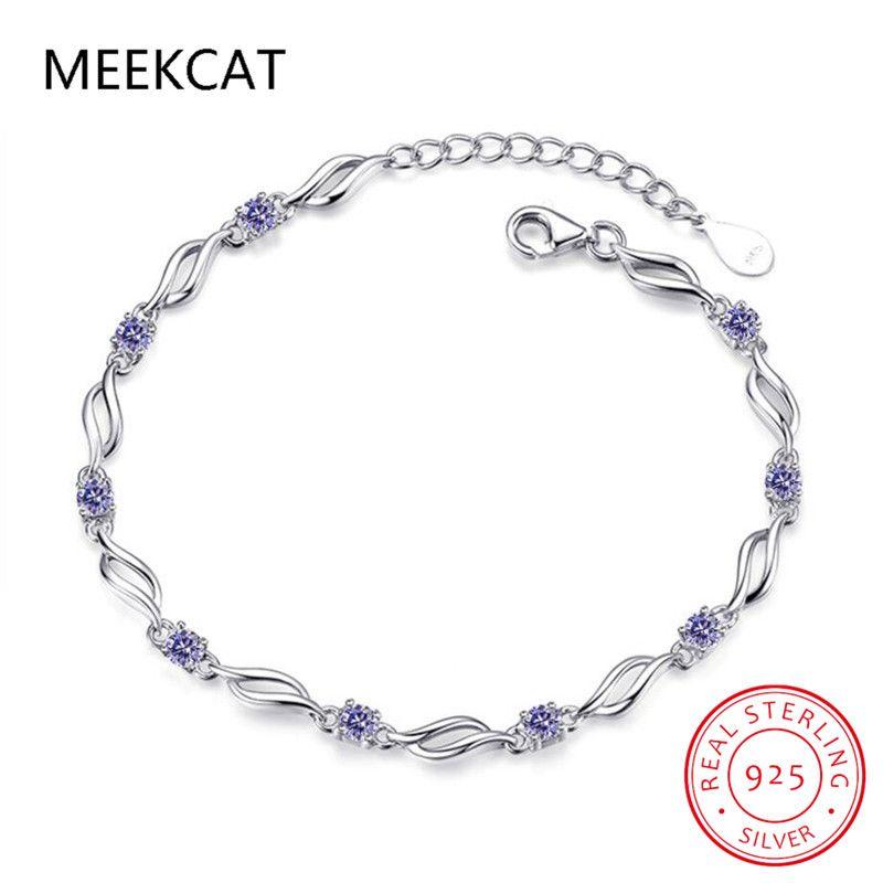 Costo delle donne di prezzi Nuova Collezione 925 braccialetti a cristallo d'argento Amore Amici / Meraviglioso Belle gioielli regalo di Classmate