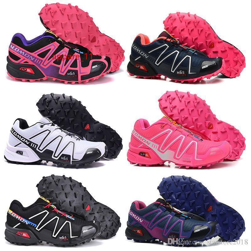 Iii Salm Speed Cross 3 Cs Scarpe Nero Argento Rosso Rosa Blu Donne Speedcross 3s escursionismo Womens atletici delle scarpe da tennis di sport 36-41 Esecuzione