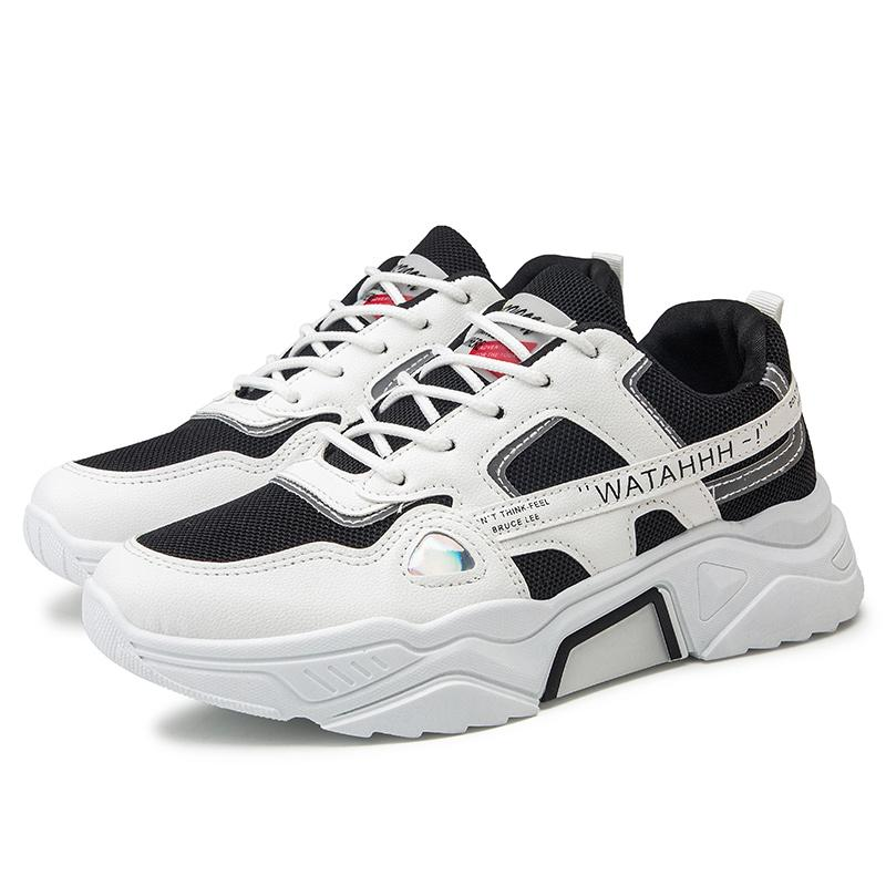 Mens Fashion Sneakers Athletics Breathable Lace Up Sports Shoes Outdoor Trainers