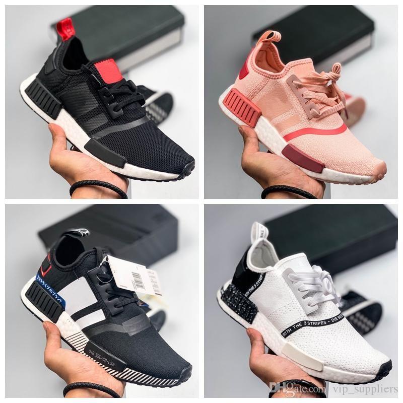 2019 новый NMD R1 Primeknit PK Идеальный NMD Runner от кроссовки Женщины Мужчины Черный Белый высокого качества Кроссовки мужские Кроссовки спортивной обуви