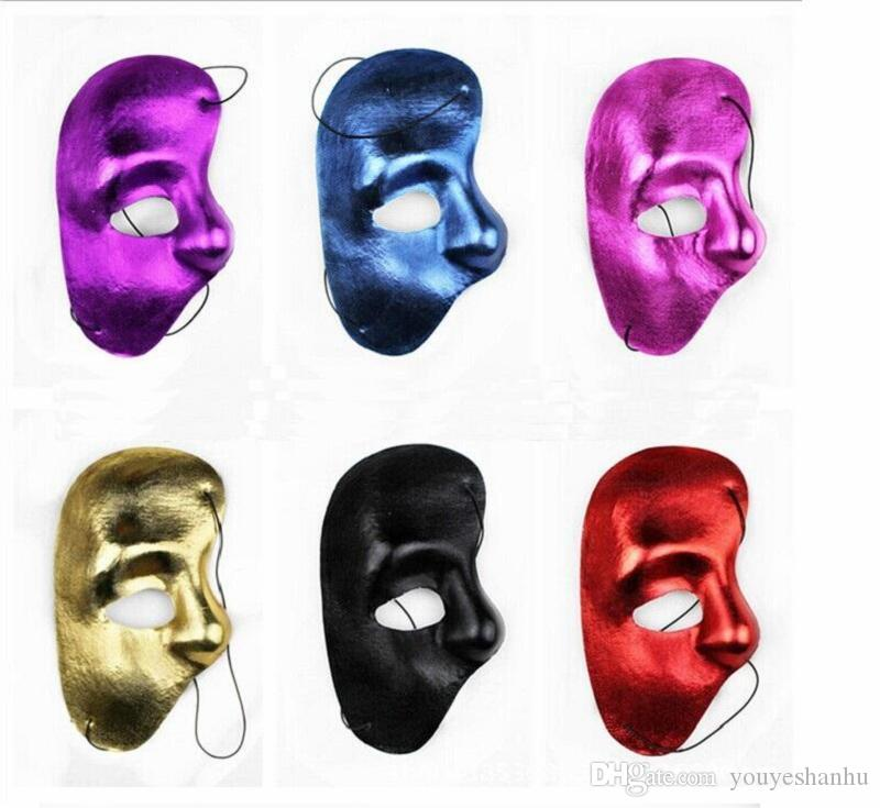 2019 half face mask Phantom of the Opera - right half of the face cloth Party mask free shipping