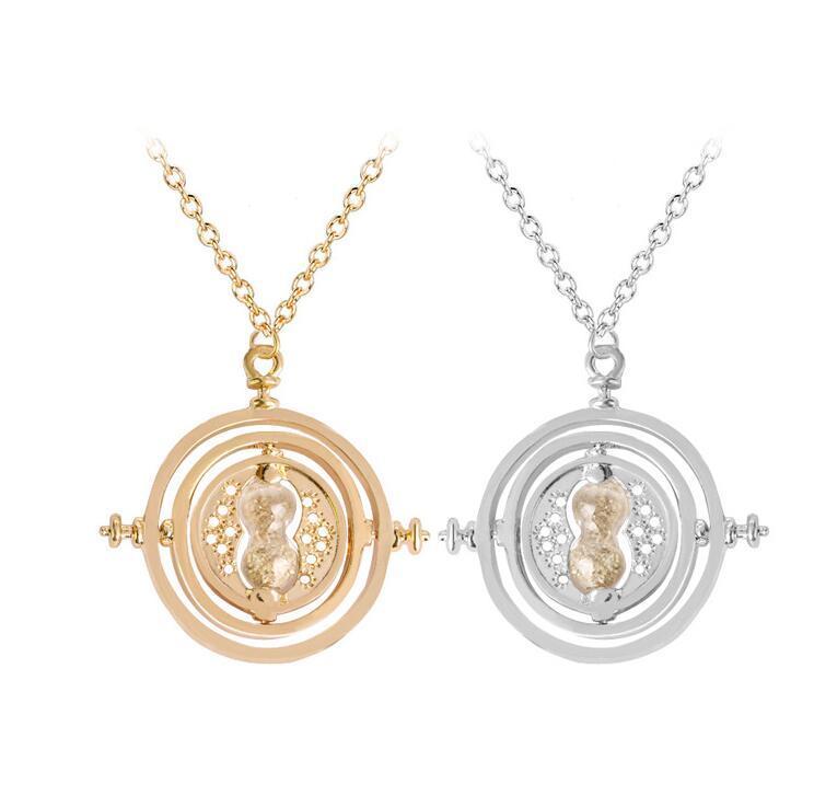 2018 Nouveau style « Time Converter » Collier boucle d'oreille d'horloge de sable pendentif clavicule pour jolie fille bateau cadeau gratuit