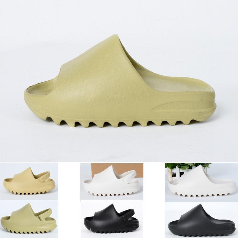 2020 niños zapatos del cabrito de la muchacha joven Kanye West diapositiva de la manera Desert Sand Beach zapatilla de espuma corredor sandalia Bone